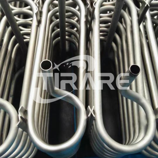 Titanium coil pipe for heat exchanger