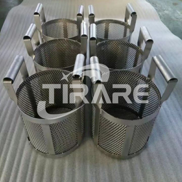 Titanium baskets suppliers for plating